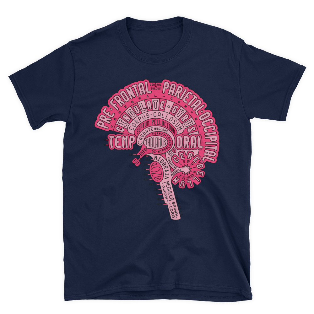 Image of Brain Typogram - T-shirt