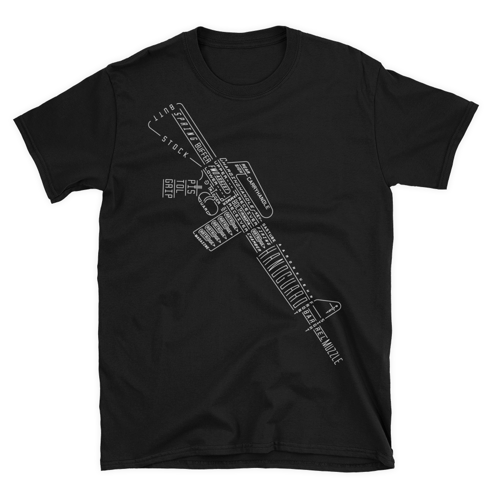 Image of Rifle Typogram - T-shirt