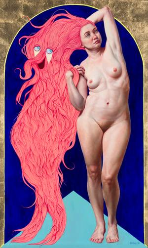 """Image of """"Sympathetic Fiber"""" Gold Leaf Limited Edition Print"""