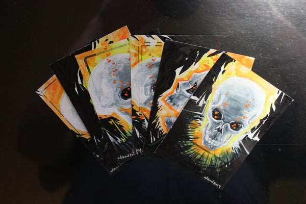 Image of Flaming Skull Trading Cards