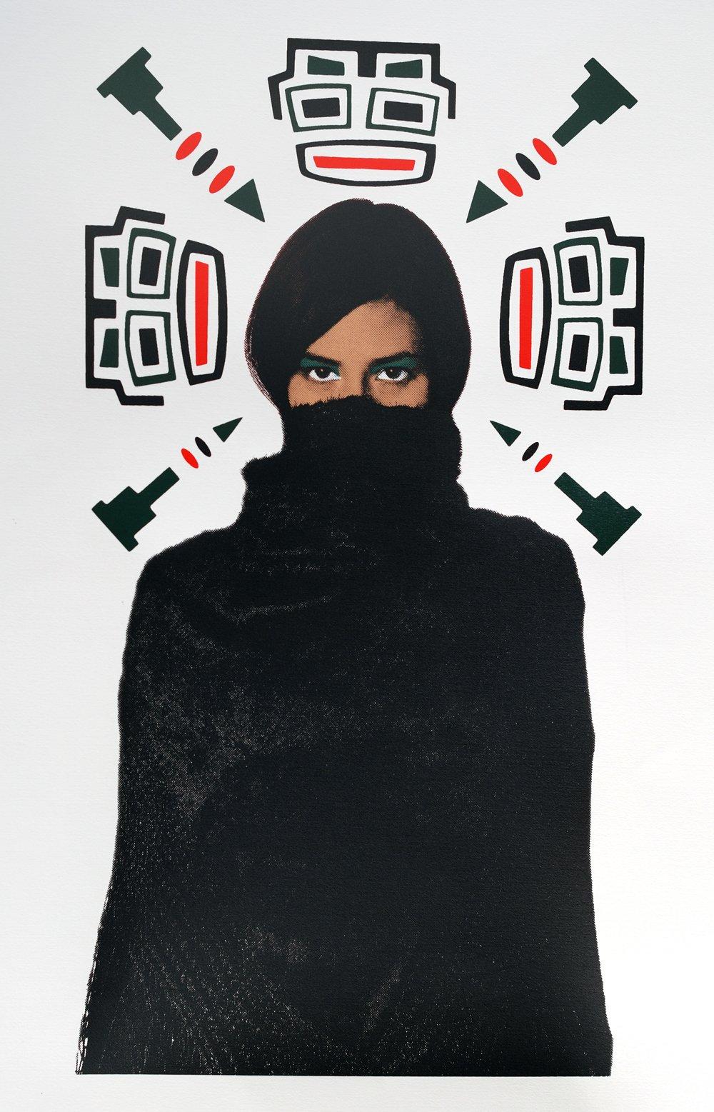Image of La Negra Half-tone print