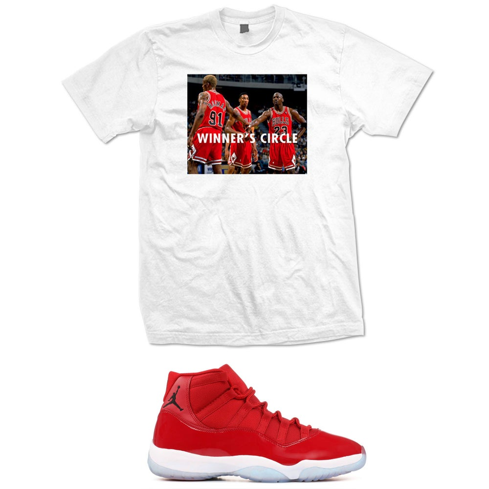 Image of WINNERS CIRCLE RETRO 11 WIN LIKE 96 T SHIRT - WHITE