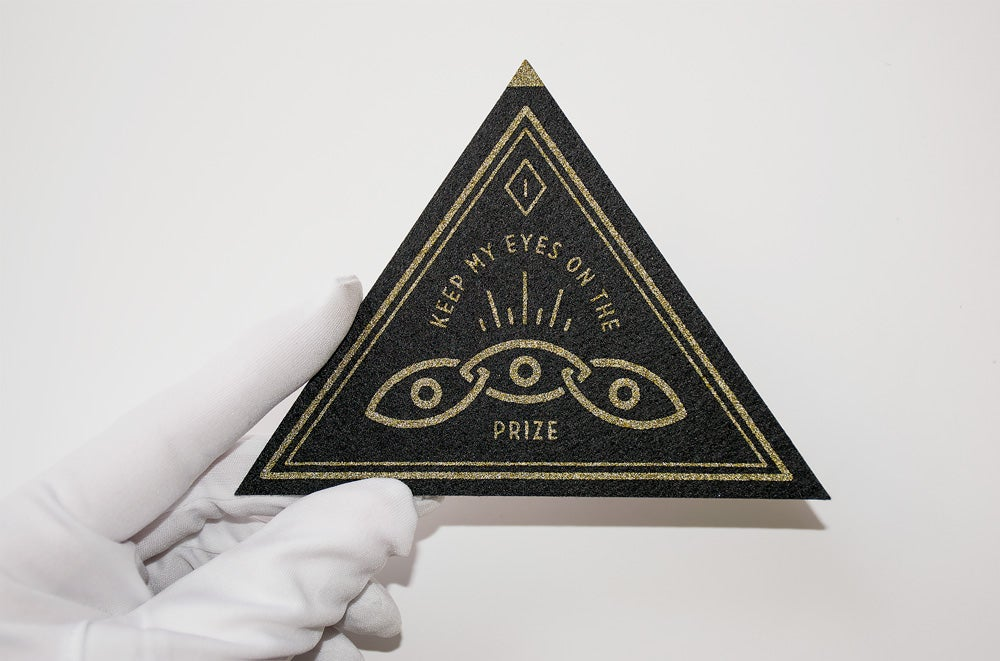 Image of Eyes on the Prize Felt Patch