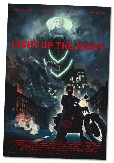 Sound Machine Records Light Up The Night Movie Poster