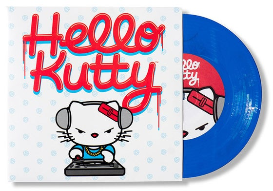 "Image of Hello Kutty - Roman Cortez 7"" Blue Vinyl"