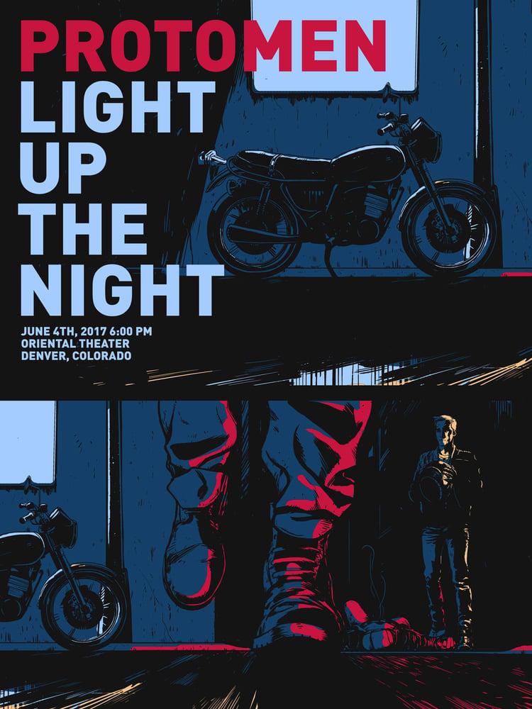 Sound Machine Records Light Up The Night Tour Print Denver