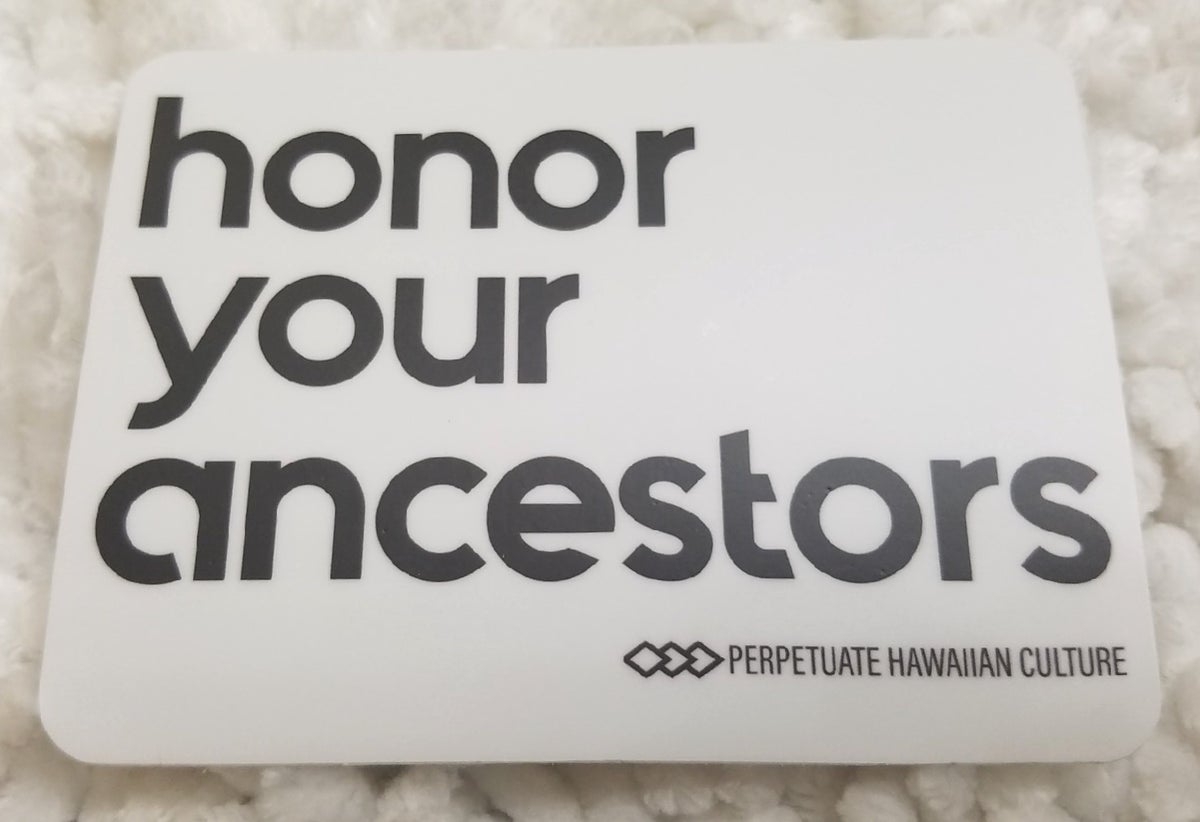 Image of Honor Your Ancestors Sticker