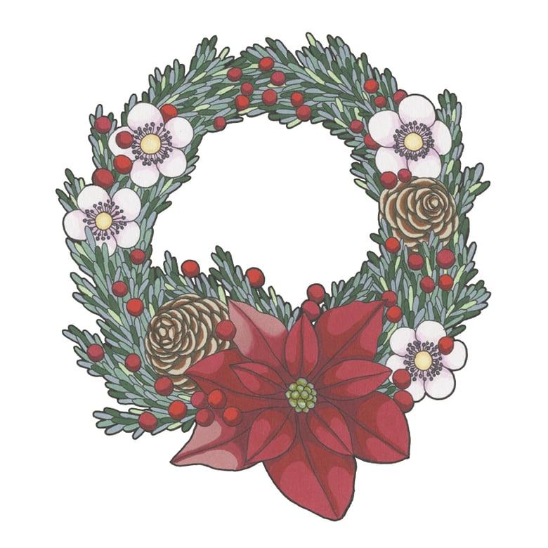 Image of Wreath Christmas Card