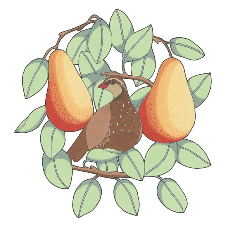 Image of Partridge in a Pear Tree Christmas Card