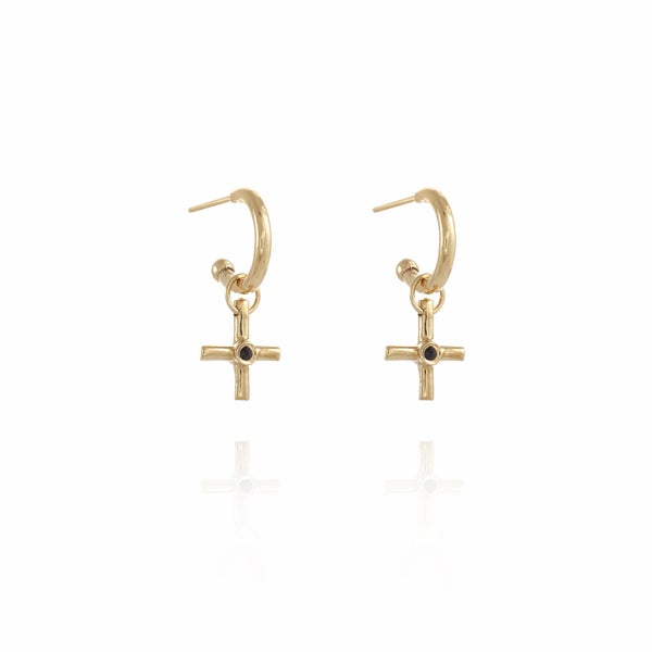 Image of Gold Gipsy Plus silver Earring