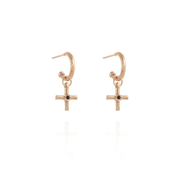 Image of Rose Gold Gipsy Plus silver Earring