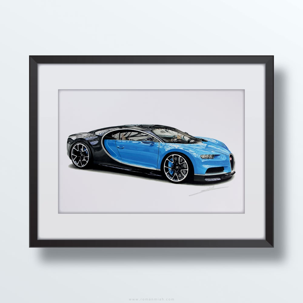 Image of Bugatti Chiron Original Artwork