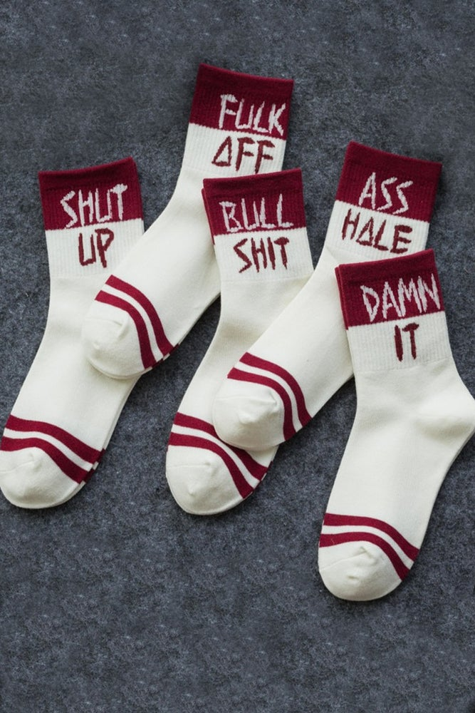 Image of &*%# SWEAR SOCKS