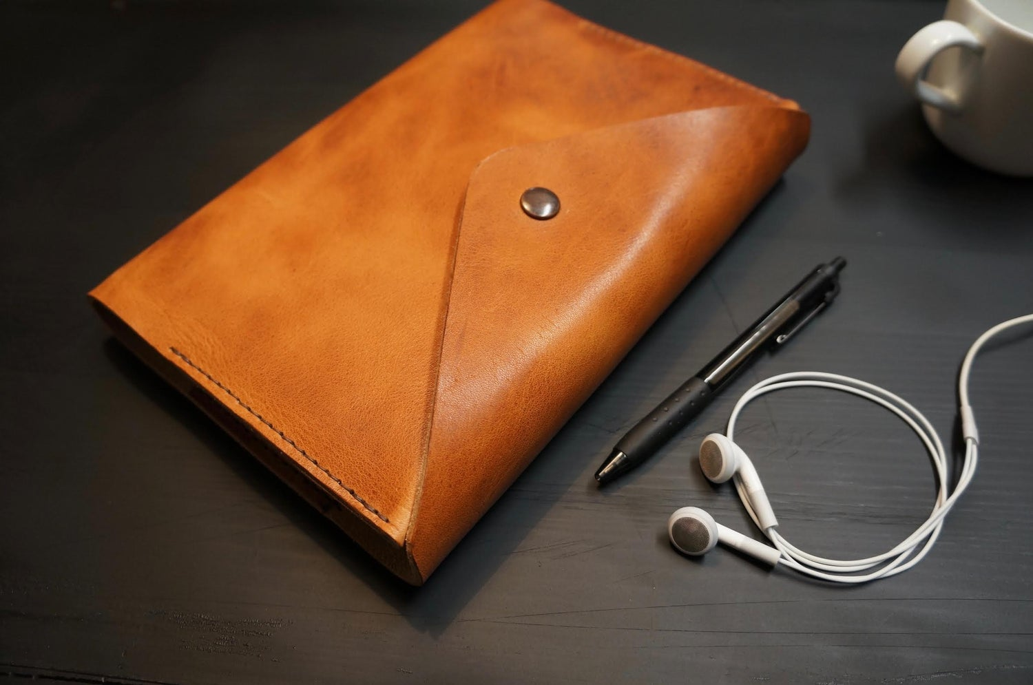 Image of The Grove Leather Journal - Horween Derby English Tan