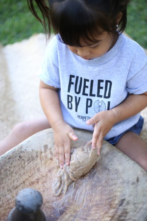 Image of Fueled By Poi (Gray) Keiki Shirt