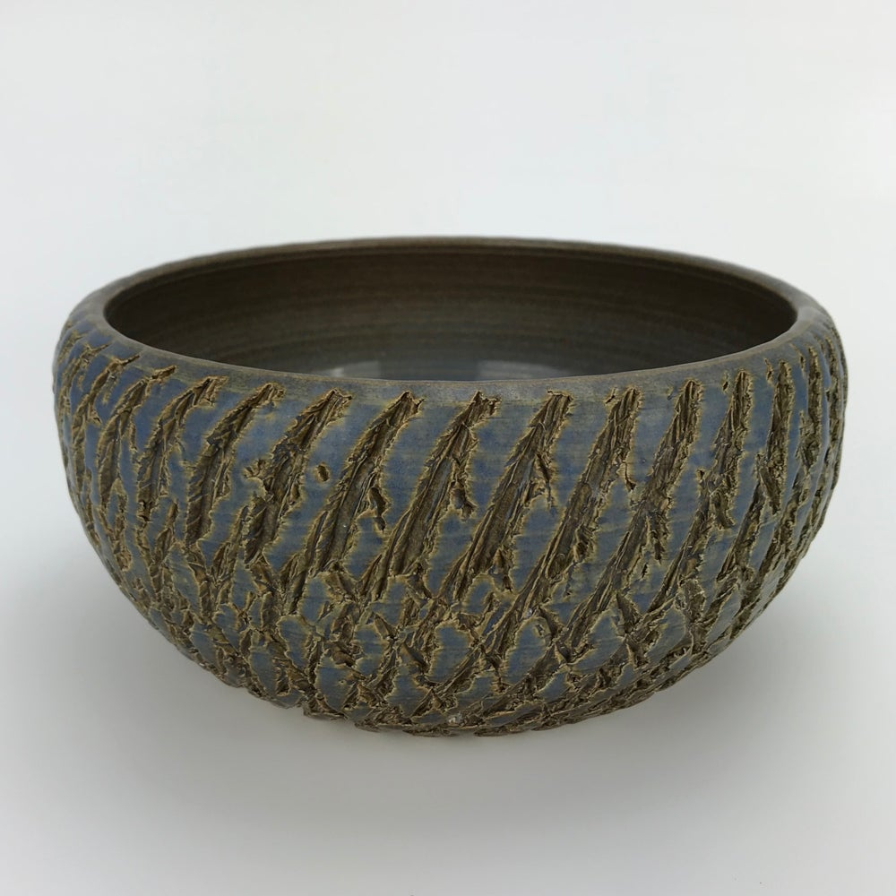 Image of Textured Blue Bowl