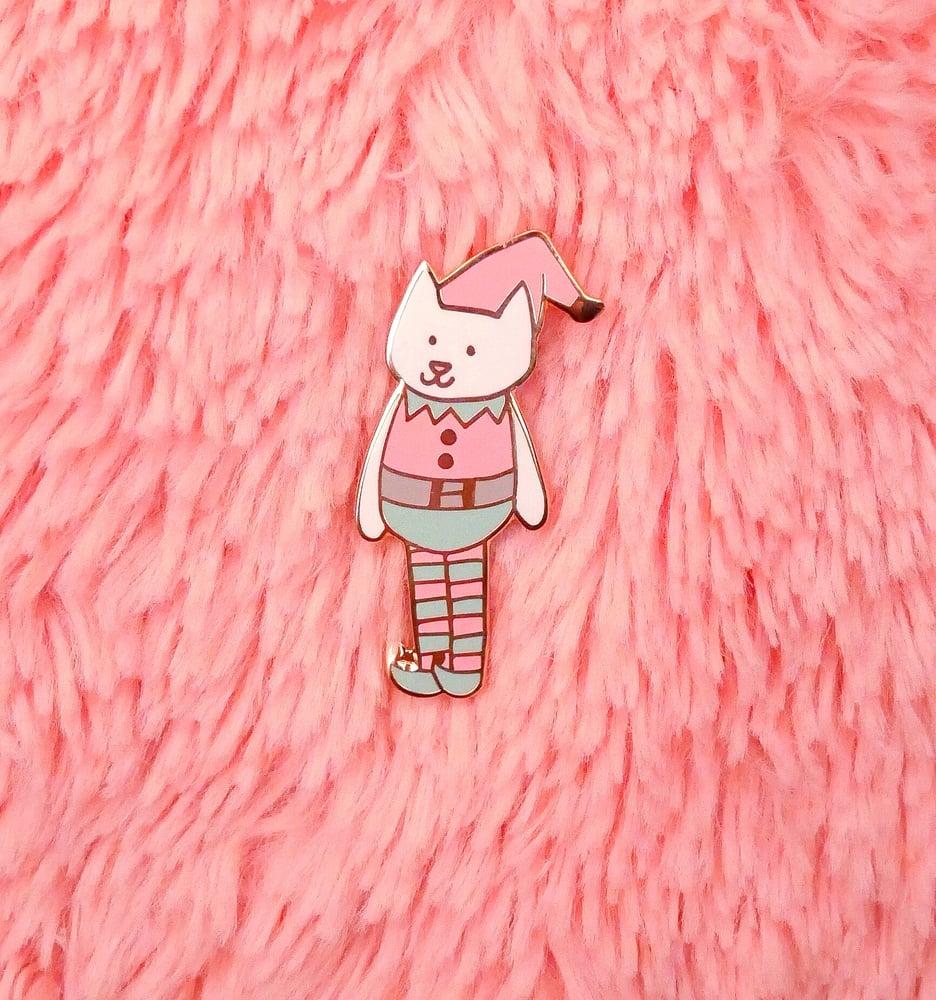 Image of Catmas Elf Pin
