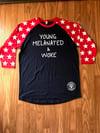 Adult Young Melanated & Woke Raglan w/ stars