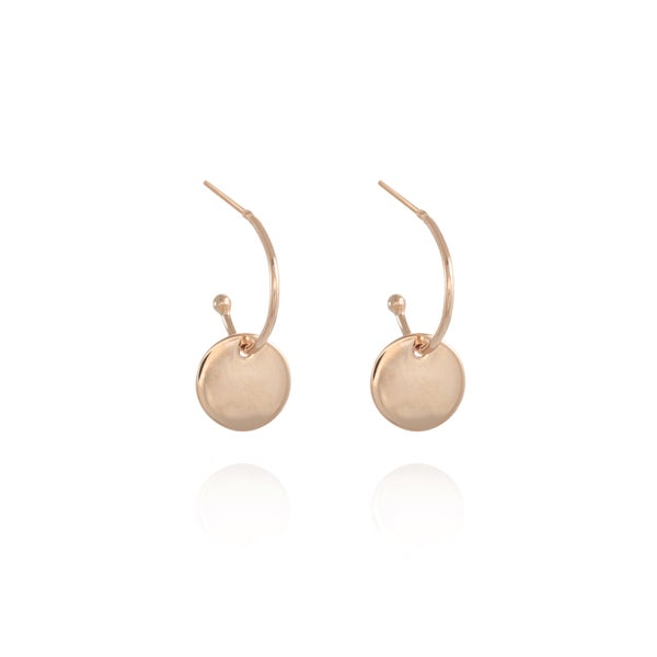 Image of Rose Gold Coin Gipsy Earring