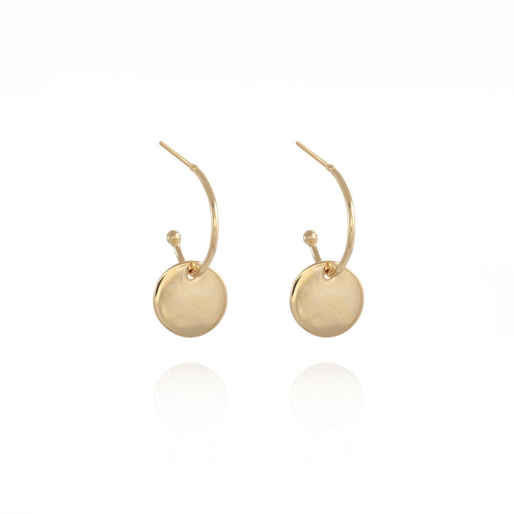 Image of Gold Coin Gipsy Earrings