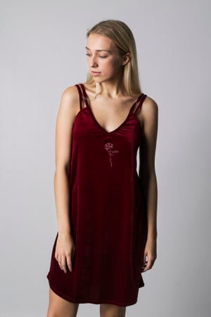 Image of BURGUNDY DRESS