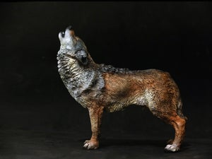 Image of Howling Wolf sculpture, edition of 50