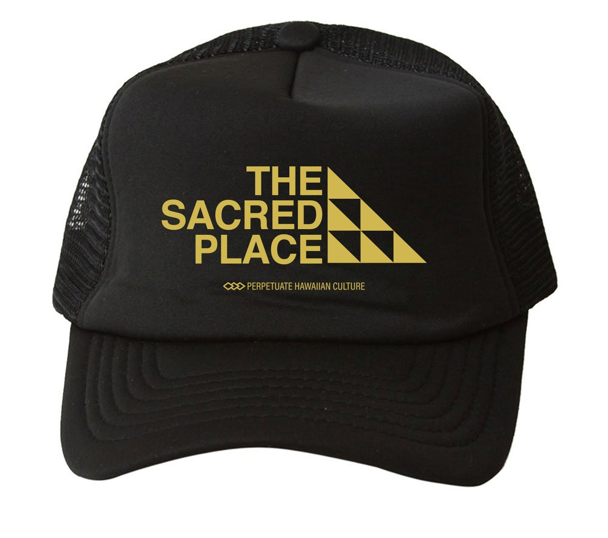 Image of The Sacred Place Trucker Hat (black + gold)