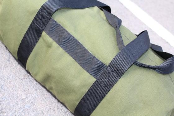 Image of Duffel Canvas Cordura Barrel Sport Gym Bag / YKK 2-way zipper/3 pockets / Holdall / Weekender /