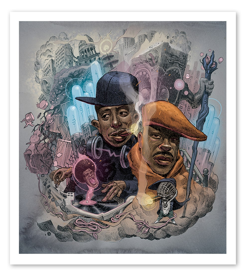 Image of Gangstarr - Lithograph Print