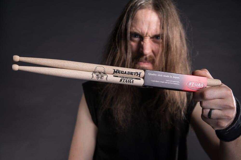 Image of Dirk Verbeuren Megadeth Drum Sticks Signed/Unsigned