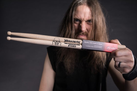 Image of Dirk Verbeuren Megadeth Drum Sticks Signed/Unsigned
