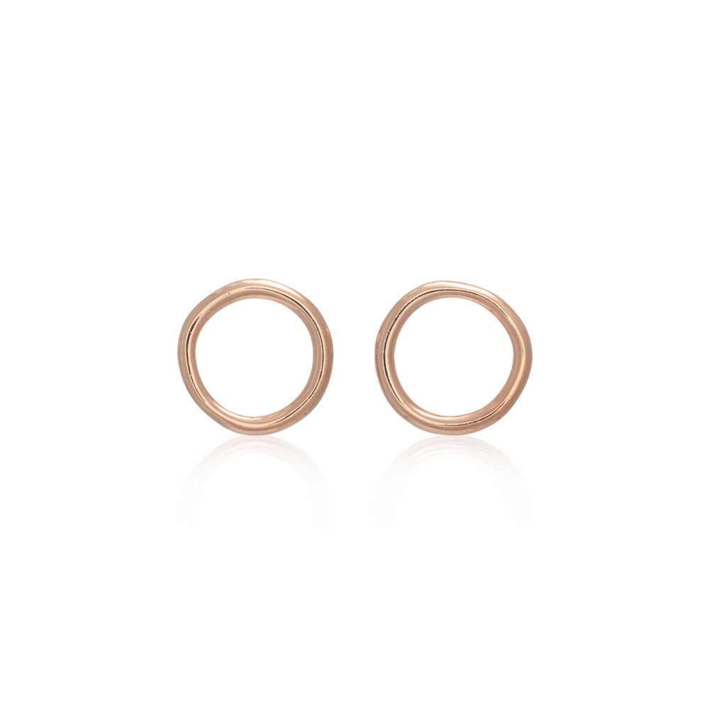 Image of Rose Gold Unicycle Earrings