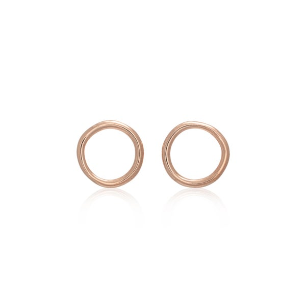 Image of Rose Gold Unicycle Earring