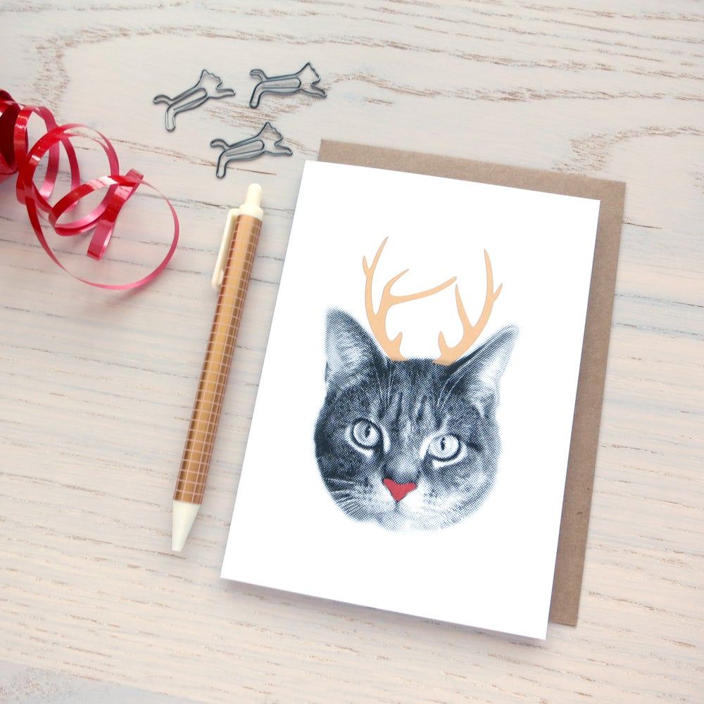 Image of gee whiskers series: holiday card