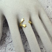 Image of Starlight - Brass Star Wrap Ring