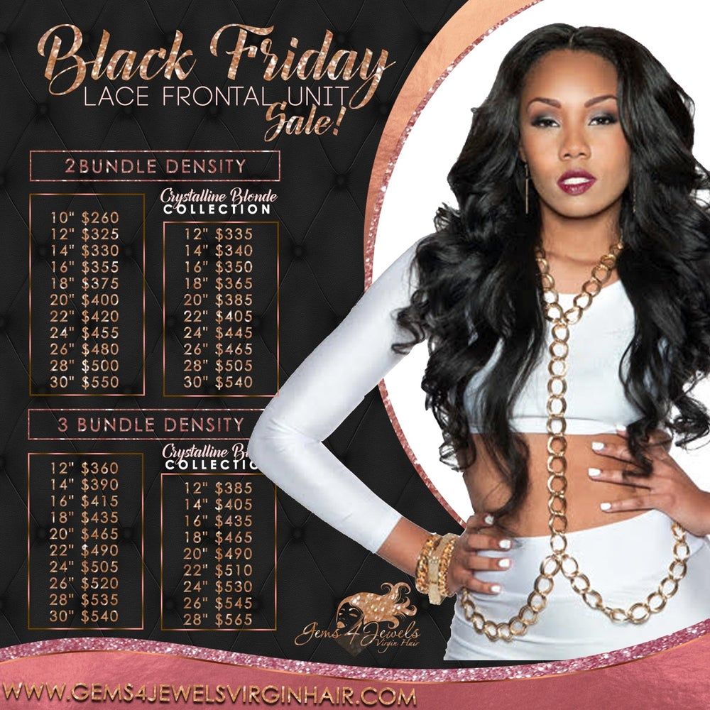 Image of Black Friday Lace Frontal Units