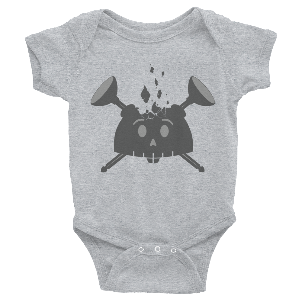 Image of Young Dreamer Baby Onesie Gray