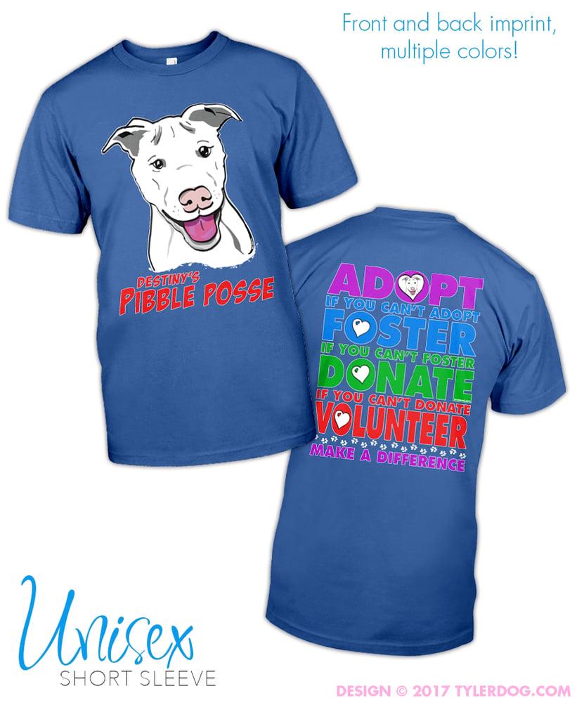 Image of Destiny's Pibble Posse Adopt Unisex t-shirt