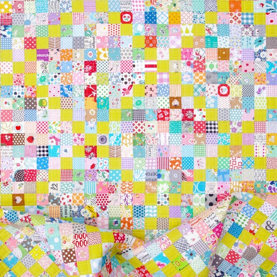 Image of Scrappy Irish Chain Quilt Pattern (PDF FILE)
