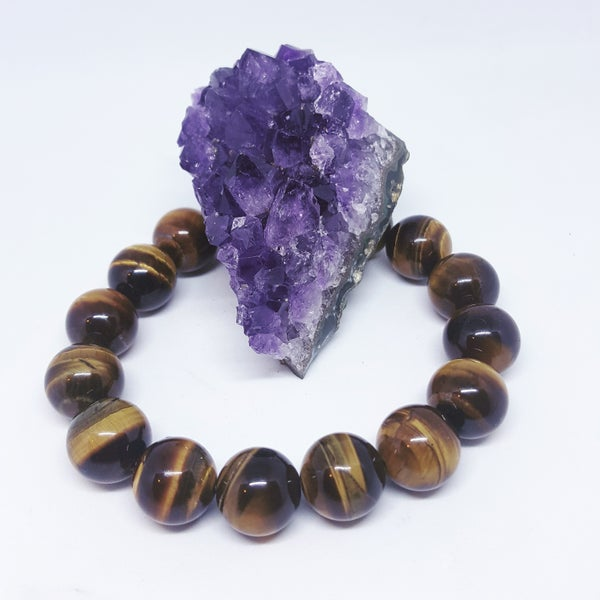 Image of Tiger's Eye Crystal Ball Bracelet