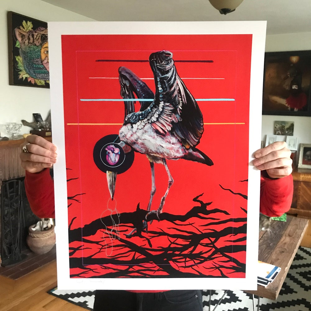 "Image of ""Reliquary"" 17""x22"" Large Limited Giclee Print with Hand Drawn Accents"