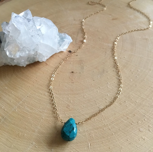 Image of Natural Turquoise Pendant necklace