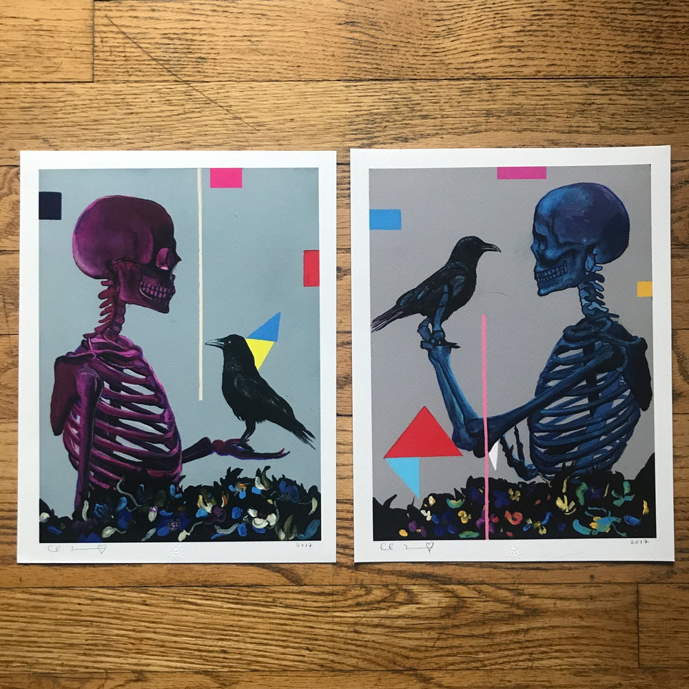 "Image of ""Amor Fati"" Two 8.5""x11"" Giclee Print Set Open Edition"