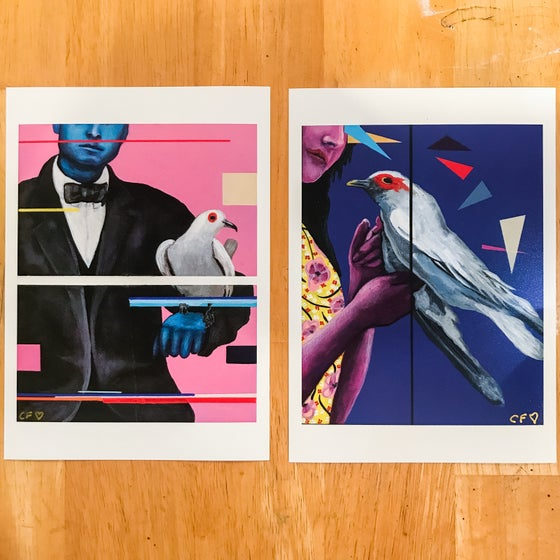 "Image of "" Dutch Courage & Whisper"" Giclee Fine Art Print Set Open Edition"