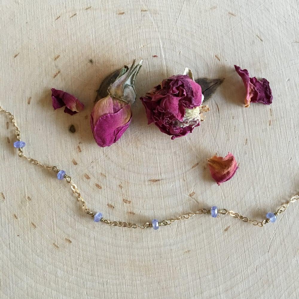 Image of Tanzanite wire wrap bracelet
