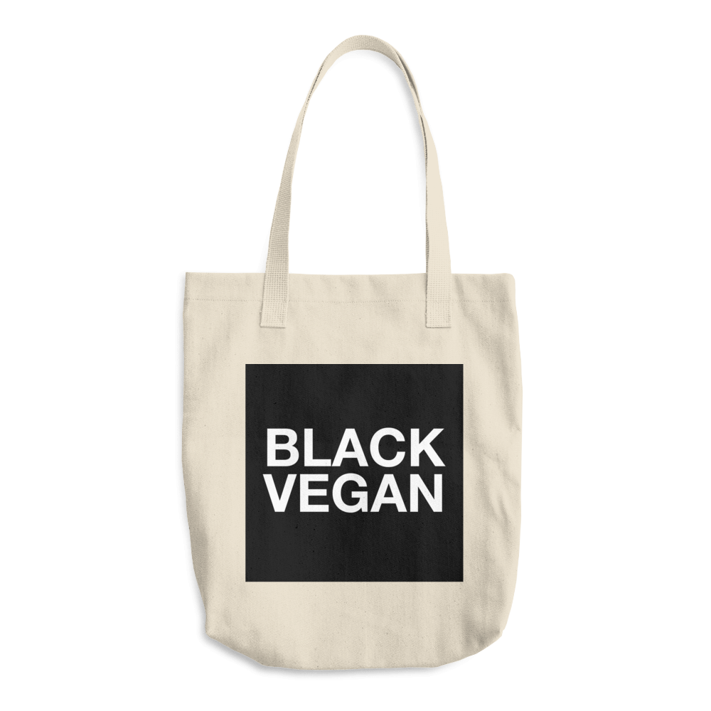 Image of Black Vegan Tote Bag