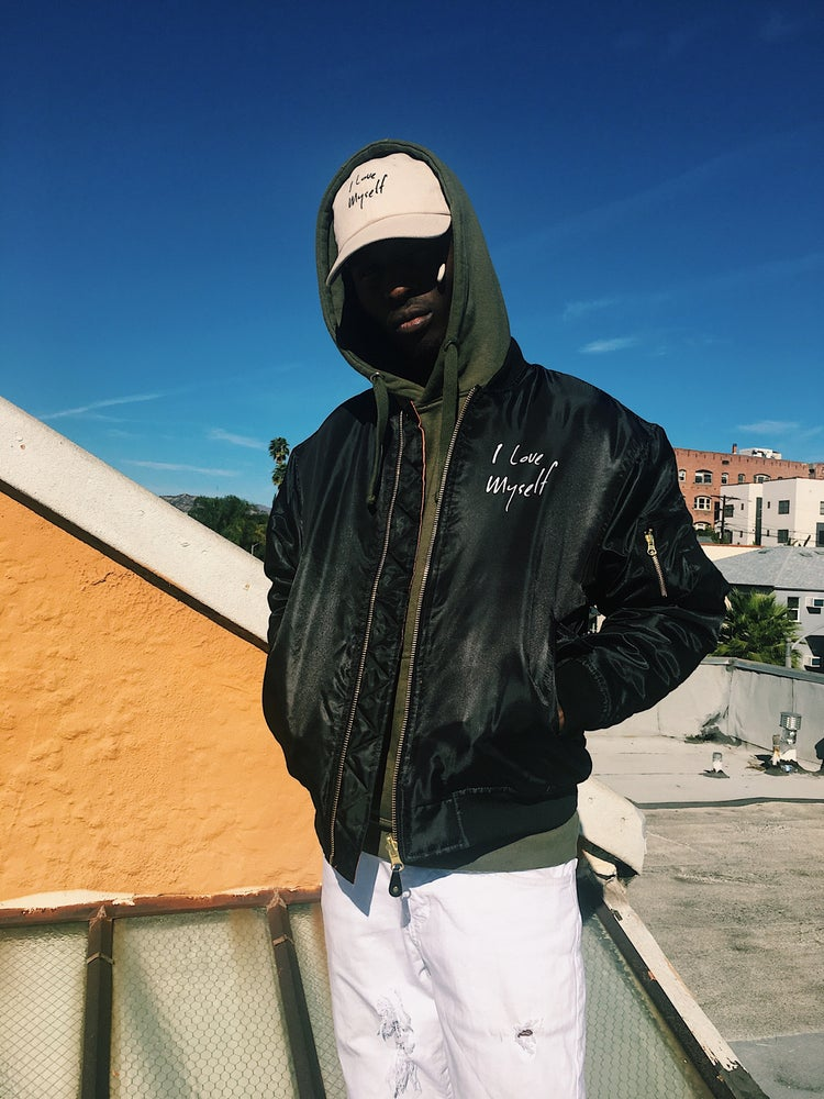Image of Black ILoveMyself Bomber jacket