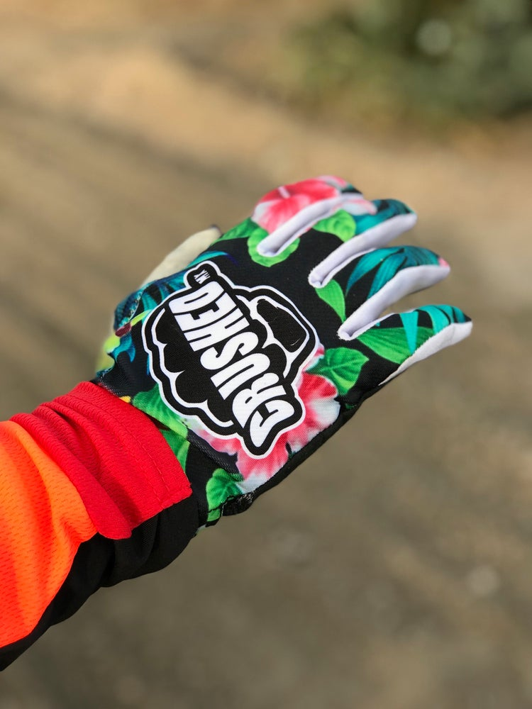 Image of Tropical Crushed MX Gloves