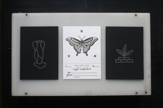Image of Black Letterpress & Tattoo Gift Certificate