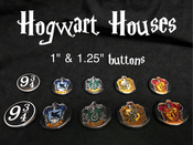 Image of Hogwarts House Buttons - COMING BACK SOON!